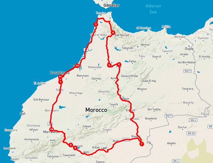 Mapa Marrocos